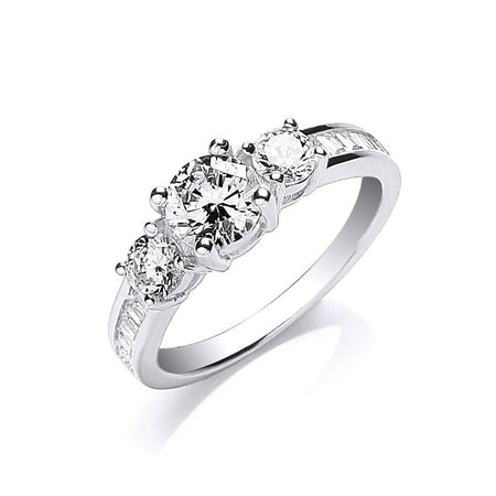 Brilliant Diamond Trilogy Engagement Ring - Sparkly Dolls