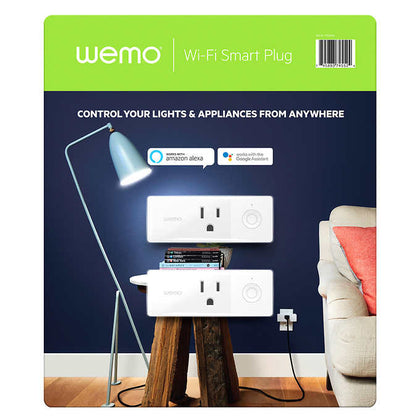 Picture of Wemo Wi-Fi Smart Plug 2-pack with voice control