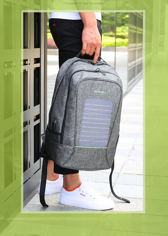 image of a solar powered backpack