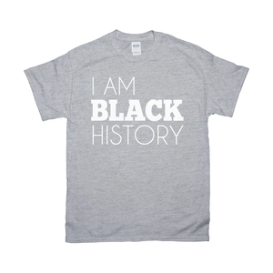 I Am Black History Adult Shirt (White)