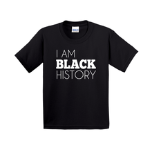 Load image into Gallery viewer, I Am Black History Kids' Shirt