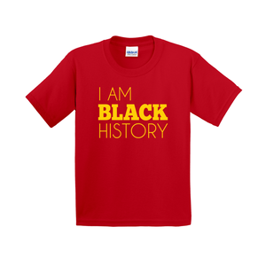 I Am Black History Kids Shirt (Yellow)