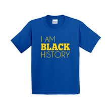 Load image into Gallery viewer, I Am Black History Kids Shirt (Yellow)