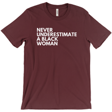 Load image into Gallery viewer, Never Underestimate a Black Woman Shirt