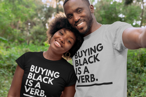 Buying Black Is A Verb Shirt