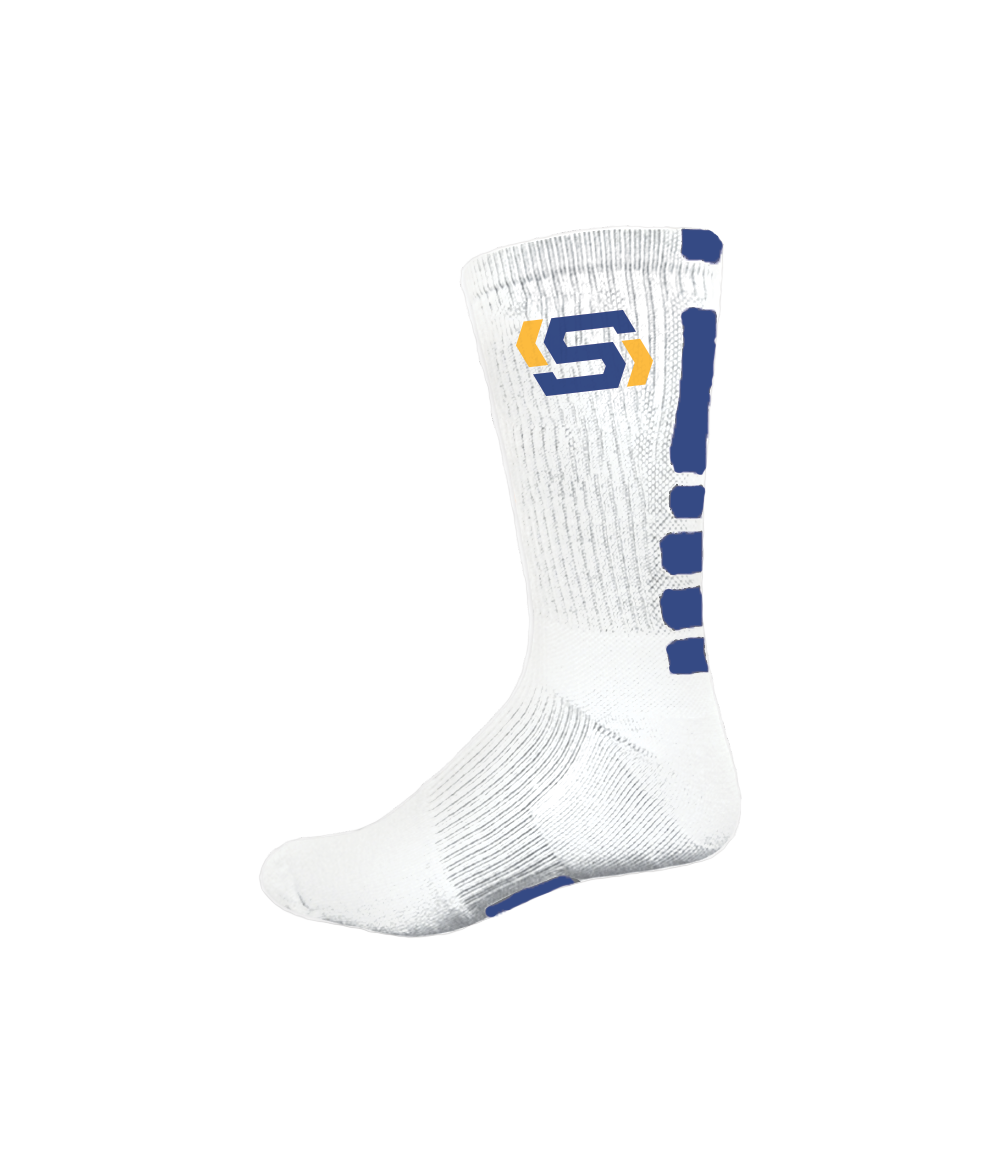 STRONG Logo Socks - White