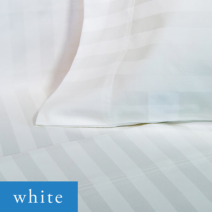 500 Thread Count Cotton Woven Stripe Sateen Sheet Sets