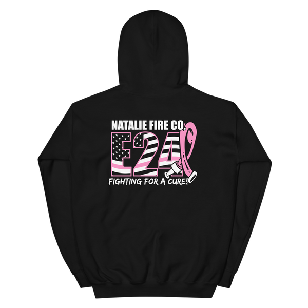 Natalie Fire Co. Breast Cancer Awareness Large Ribbon  Hoodie