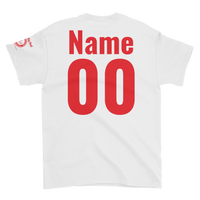Tornadoes Basketball Customizable White Short-Sleeve T-Shirt