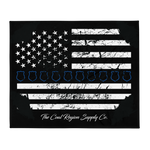 "Thin Blue Line 50""x60"" Throw Blanket"