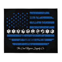 "Thin White Line 50""x60"" Throw Blanket"
