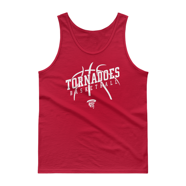 Tornadoes Basketball Customizable Red Tank top