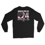 Natalie Fire Co. Breast Cancer Awareness Small Ribbon Long Sleeve T-Shirt