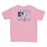 Natalie Fire Co. Breast Cancer Awareness Small Ribbon Youth Short Sleeve T-Shirt