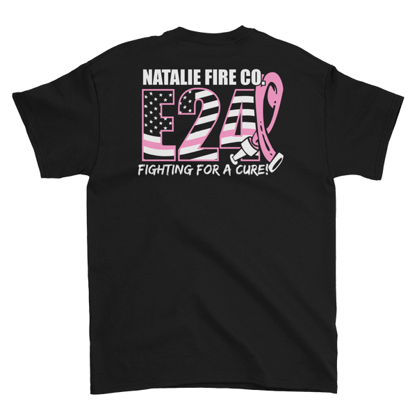 Natalie Fire Co. Breast Cancer Awareness Large Ribbon Short Sleeve T-Shirt