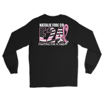 Natalie Fire Co. Breast Cancer Awareness Large Ribbon Long Sleeve T-Shirt