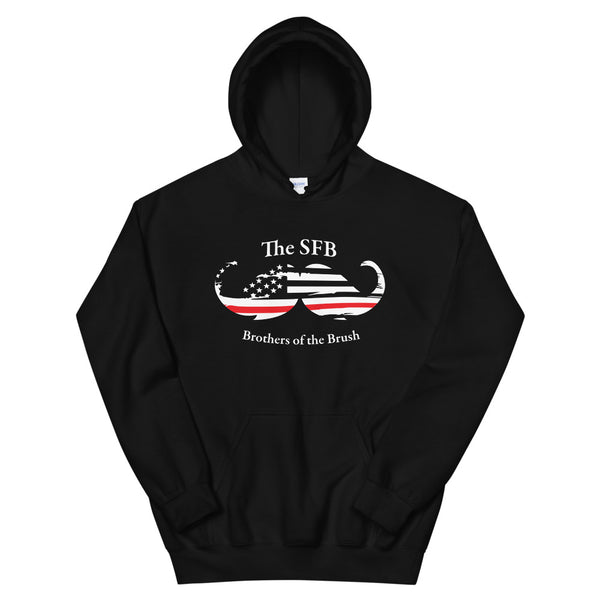 Brothers of the Brush Thin Red Stash Unisex Hoodie