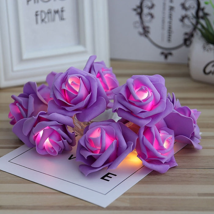 Rose Flower Christmas Lights