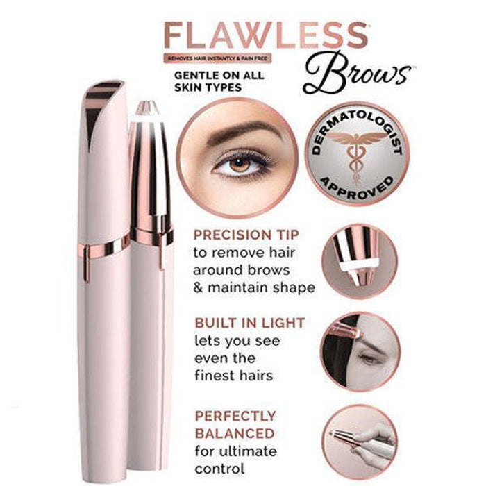 New Flawlessly Brows Eyebrow Trimmer Electric Hair Remover Painless Shaver Painless Personal Face Care Instant Hair Remover Tool