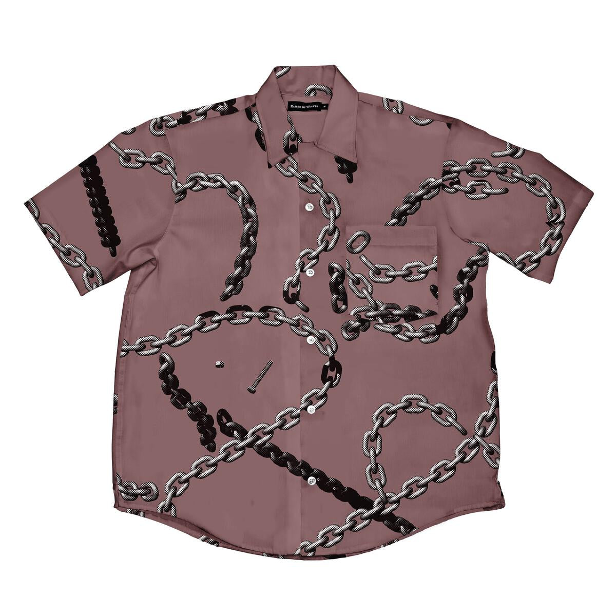 Chains Camp Shirt - Dusty Rose