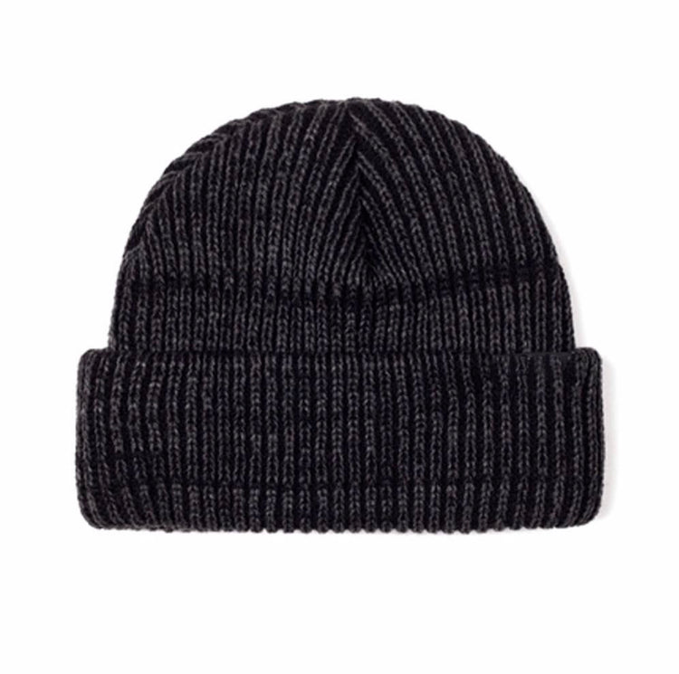 Lopez Heavy Knit Beanie - Black/Grey