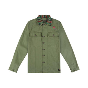 Devers Rattle Overshirt - Clover