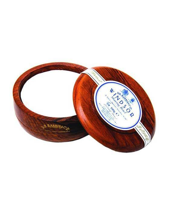 D.R. Harris Windsor Shaving Soap in Mahogany Bowl