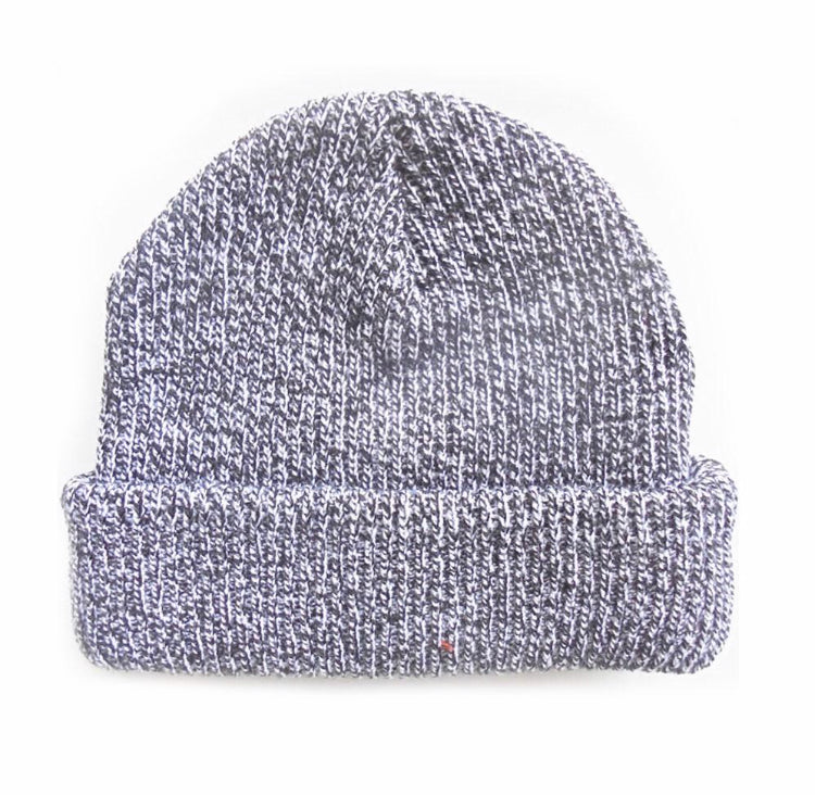 Lopez Heavy Knit Beanie - Black/White