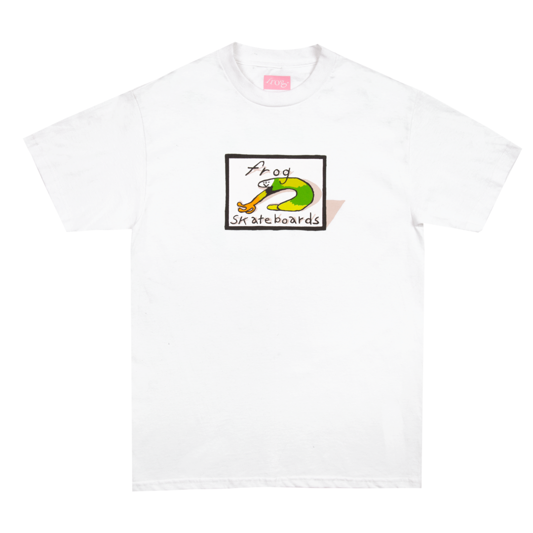 Classic Frog Logo - White