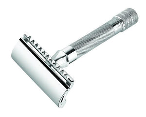 Merkur 33C Double Edge Safety Razor - Chrome Straight Cut