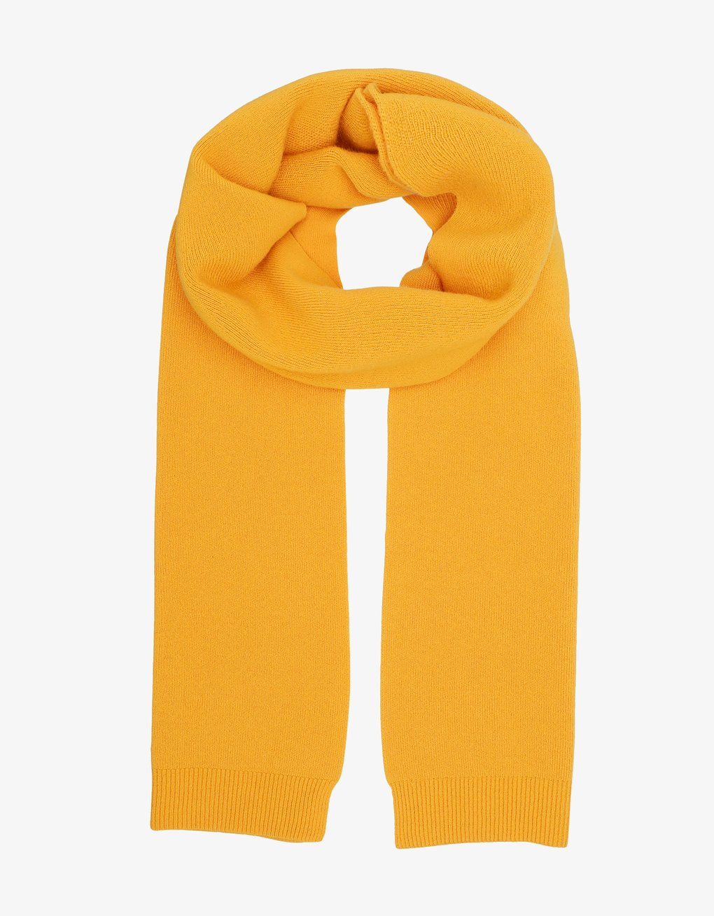 Merino Wool Scarf - Burned Yellow