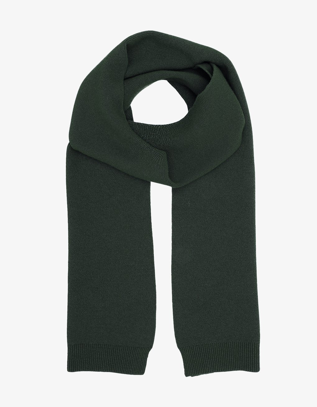 Merino Wool Scarf - Hunter Green