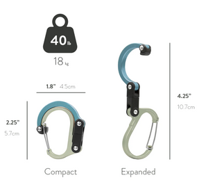 Heroclip Mini Carabiner - Sea Grass