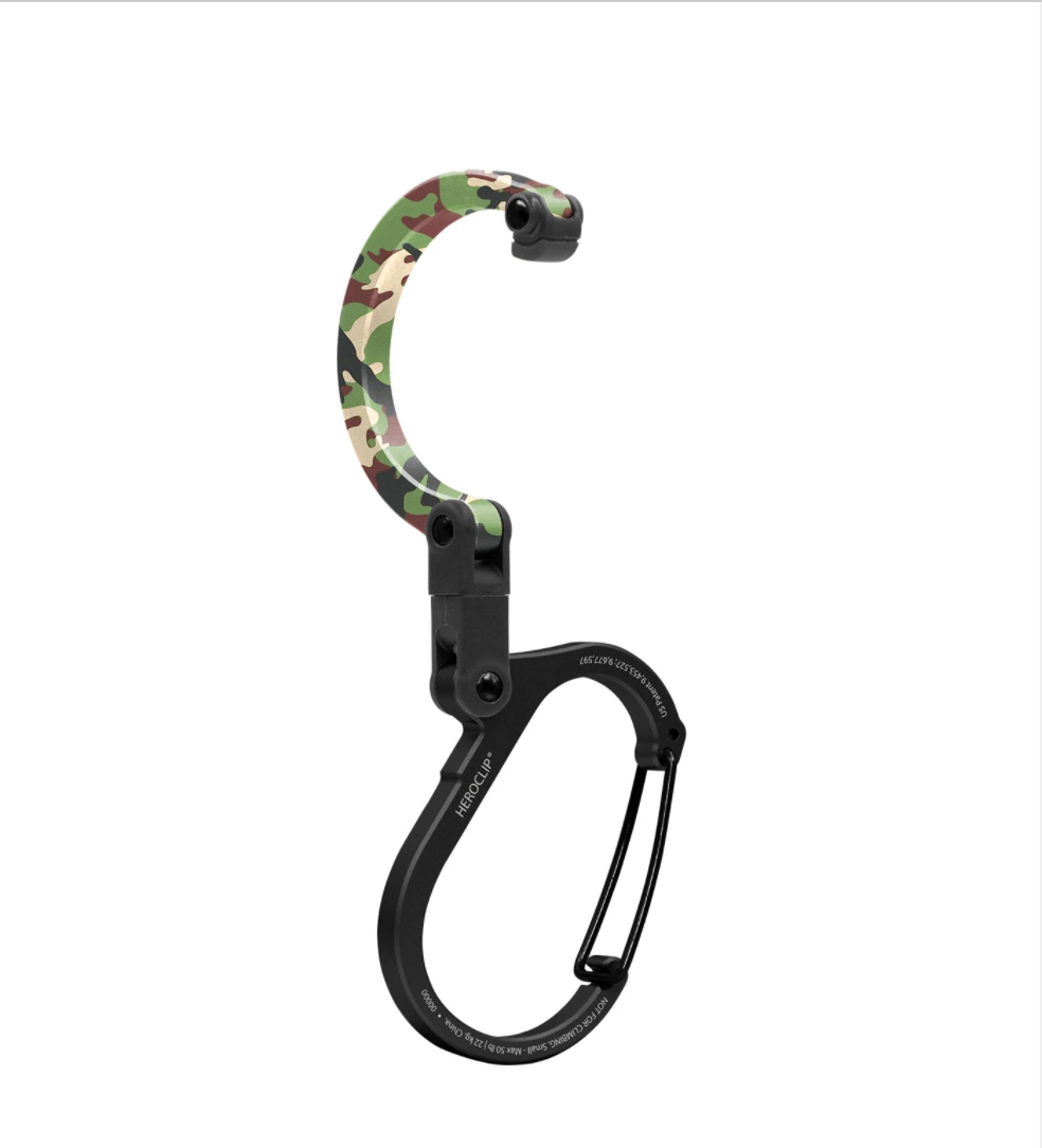 Heroclip Small Carabiner - Woodland Hero