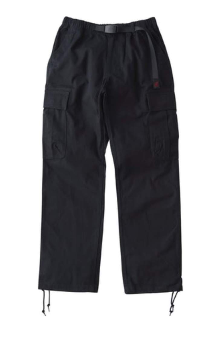 Back Satin Cargo Pants - Double Navy