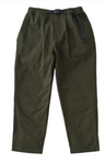 Back Satin Loose Tapered Pants - Deep Olive