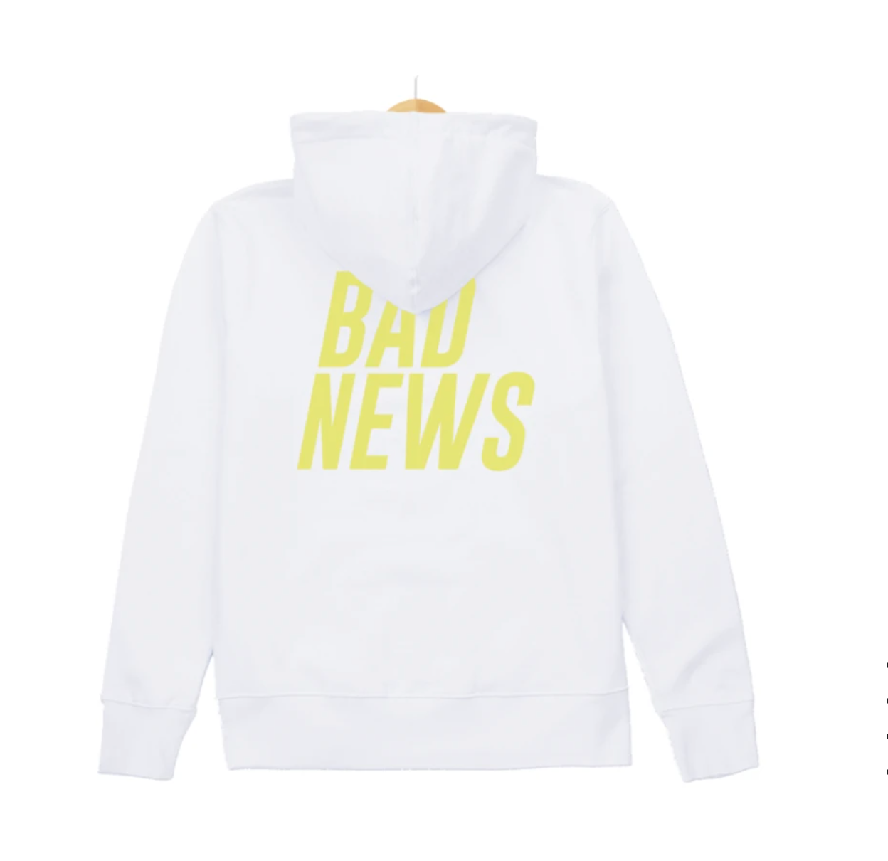 Stacked Logo Hoodie - White