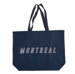 Outline Canvas Tote - Navy
