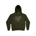 Evil Anxiety Hoody - Army Green