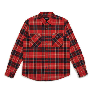 Bowery L/S Flannel - Red/Navy