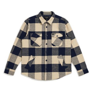 Durham L/S Flannel - Navy/Cream