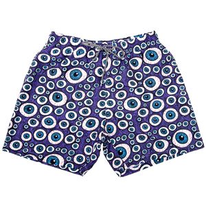 Eyes Board Shorts - Purple