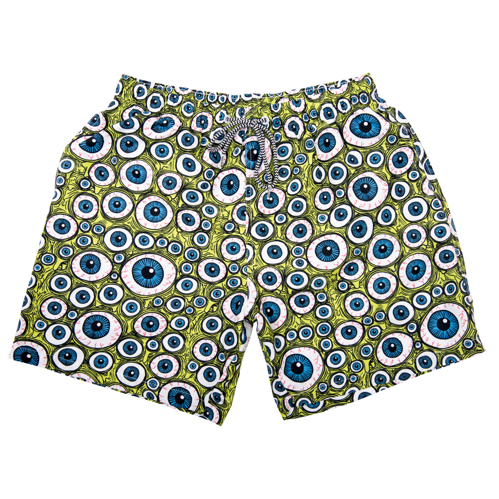 Eyes Board Shorts - Green