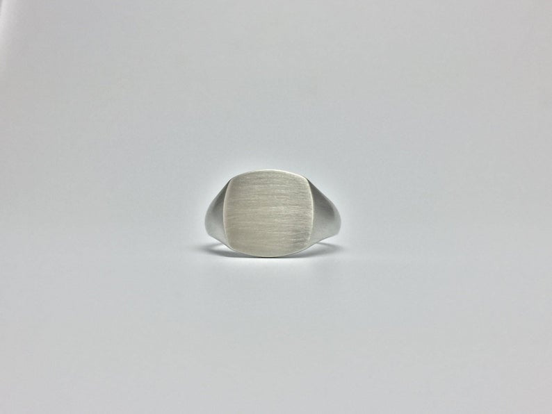 Flat Square Signet Ring