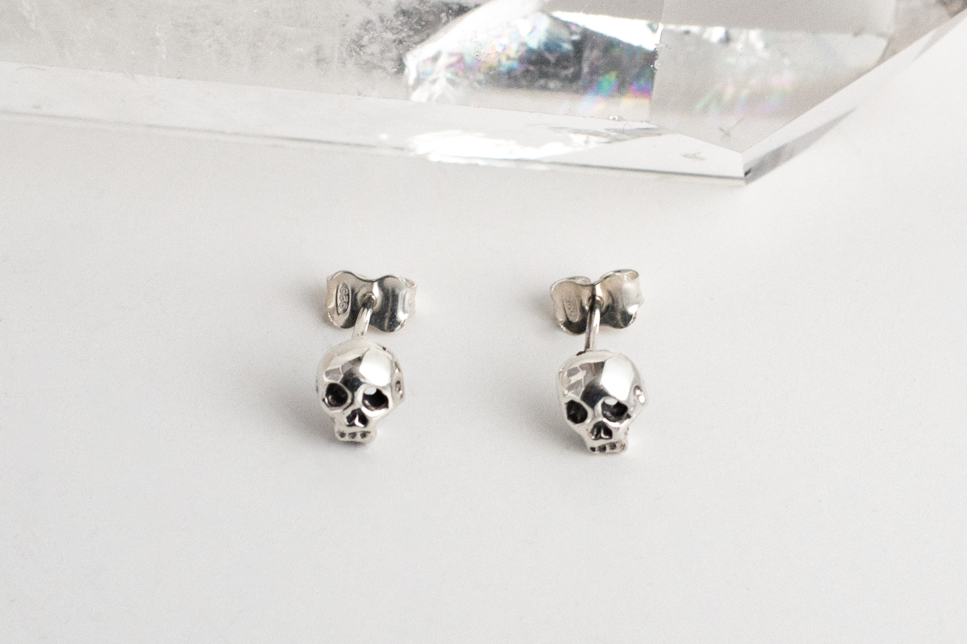 Classic Skull Earrings - Sterling Silver