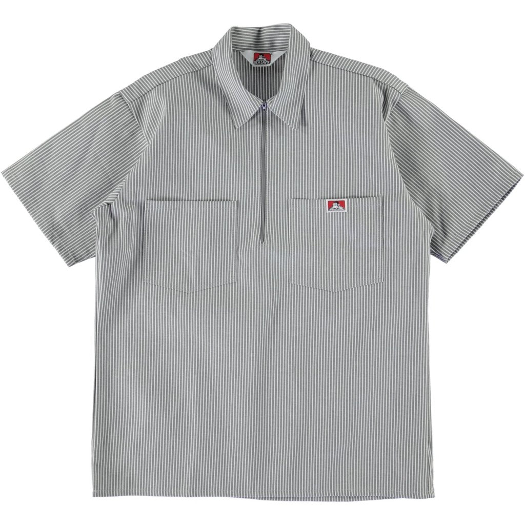 S/S Half-Zip Work Shirt - Hickory