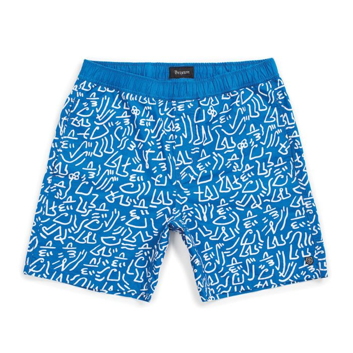 Steady Elastic Waistband Short - Royal/White
