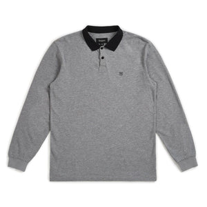Wingate L/S Polo - Heather Grey/Black