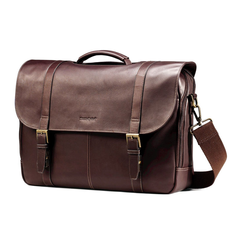 Leather Business Cases Colombian Leather Flapover Case