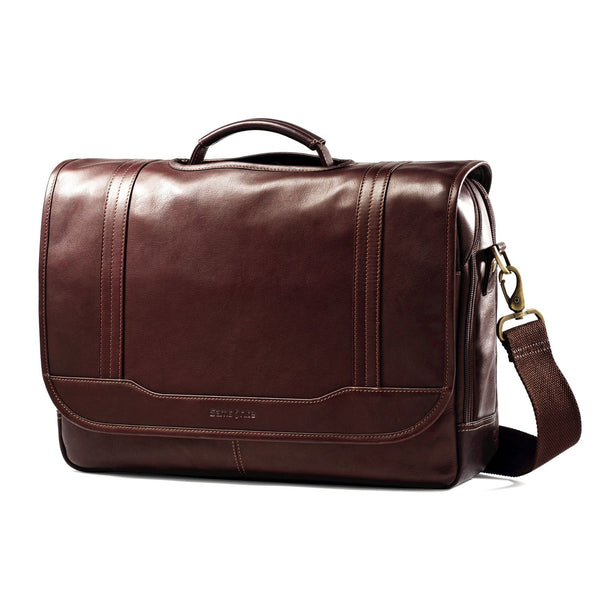 Colombian Leather Flapover Briefcase